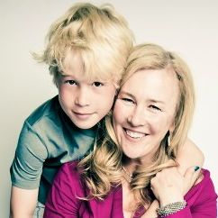 Cooper Smith with his Mom jennifer Aaker